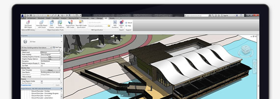 Screenshot of NBS Plug-in for Autodesk® Revit®