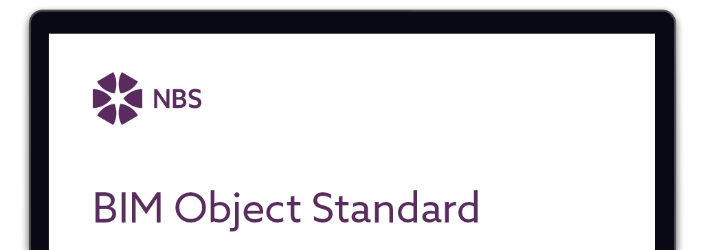 Screenshot of NBS BIM Object standard