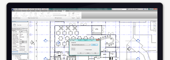 Screenshot of NBS Templates for Autodesk® Revit®